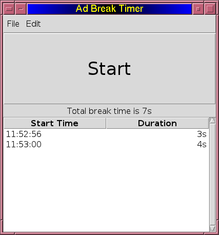 Ad Break Timer Screen Shot 1
