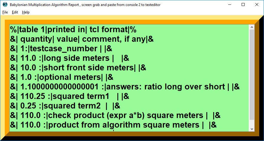 Babylonian Quarter Square Multiplication procedure algorithm png console screenshot