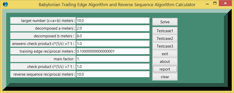 Babylonian trailing edge algorithm and reverse sequence algorithm for reciprocals screenshot
