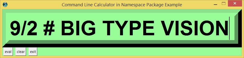 Command Line Calculator in Namespace Package Example screen.png