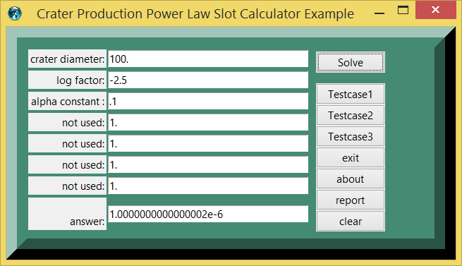 Crater Production Power Law Slot Calculator Example screen.png