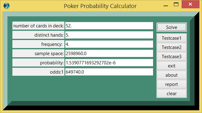Poker Probability And Calculator Demo Example