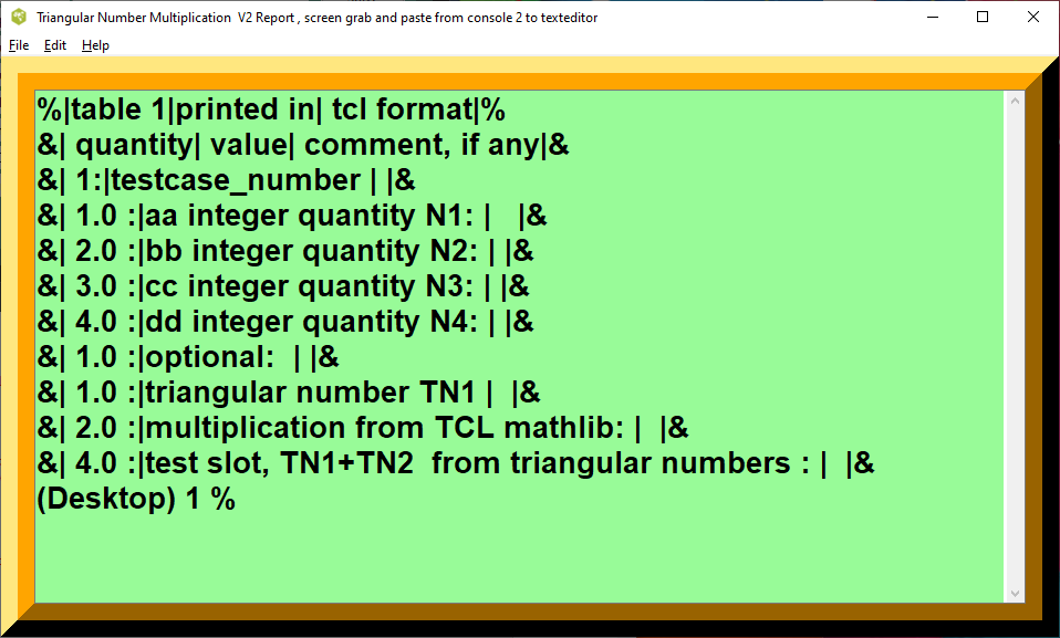 Triangular Number Multiplication printout